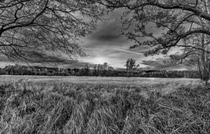 schwarz-weiß HDR Landschaftaufnahme