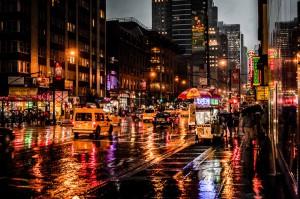 New York Rain in the Night