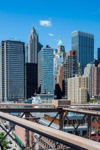 New York Skyline Brooklyn Bridge