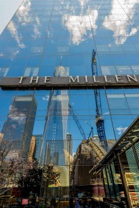 New York Sky Reflection Ground Zero The Millemium