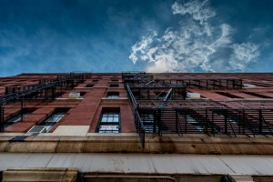 New York Back Door Staircase