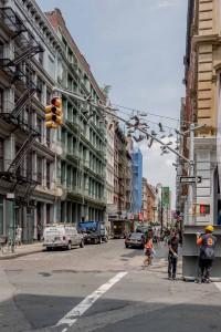 New York Shoes on Traffic Light