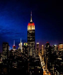 New York Emire State Building German Flag