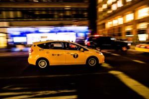 New York Yellow Caps Rush by Night