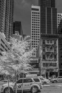 New York City infrared - black & white