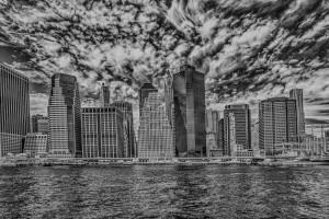 New York City infrared - HDR skyline B&W