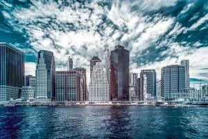 New York City infrared - HDR skyline