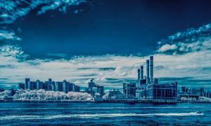 New York City infrared -  skyline