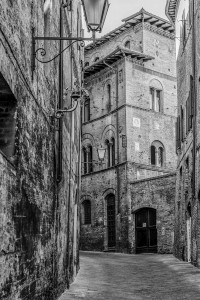 Italy Tuscany black&white Siena