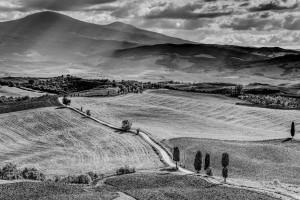 Italy Tuscany black&white Landscape HDR