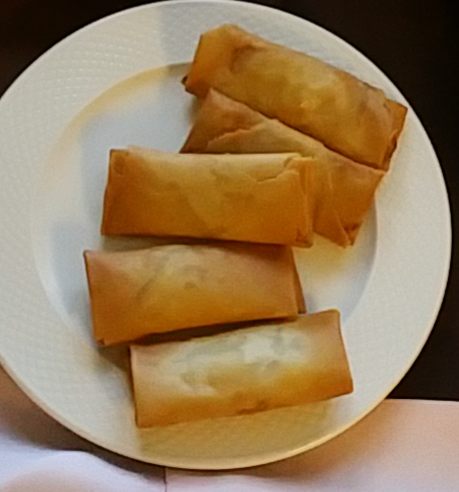 Spring rolls with crab meat