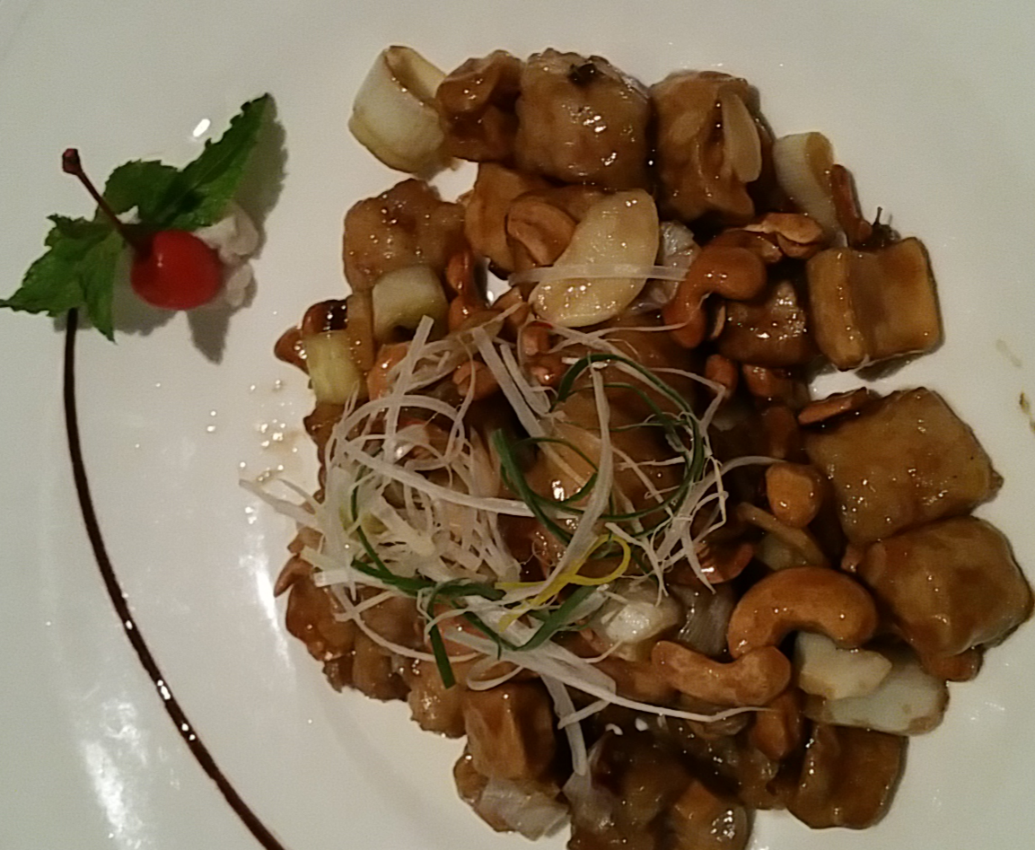 Fish with mushrooms and nuts