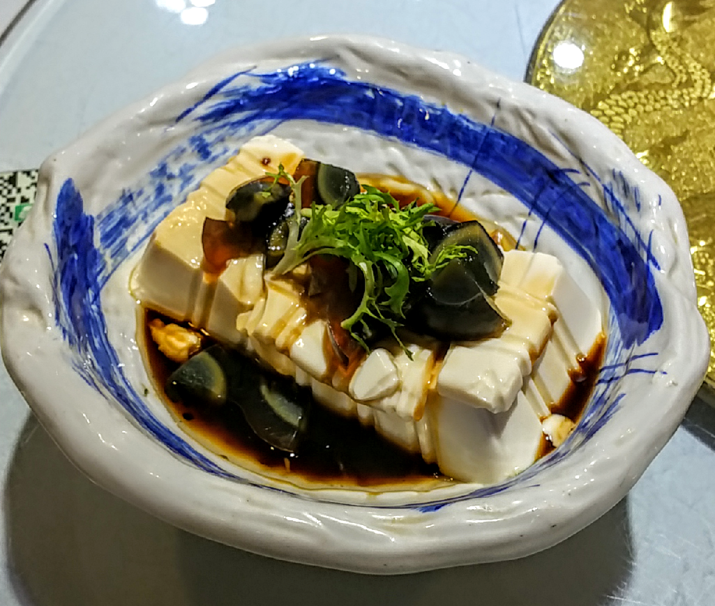 Tofu with 1000 years old eggs